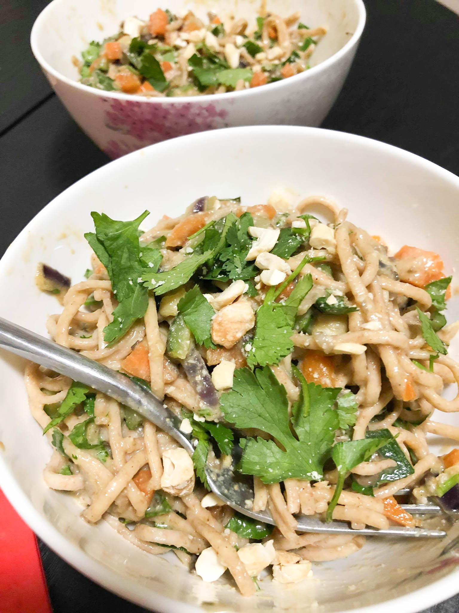 Vegetable Noodles & Silky Cashew Nut Sauce