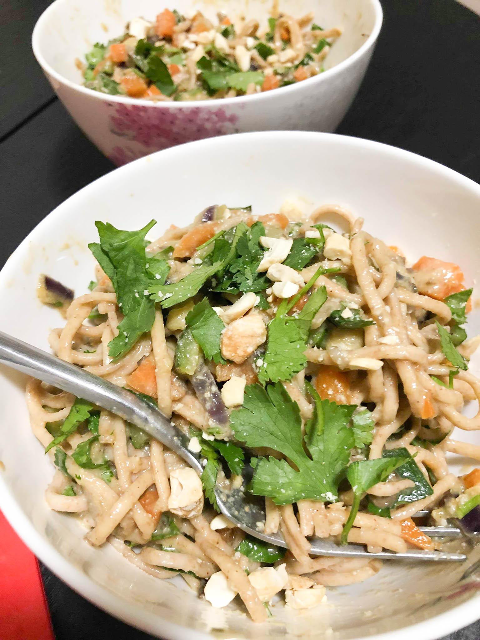 Vegetable Noodles & Silky Cashew Nut Sauce