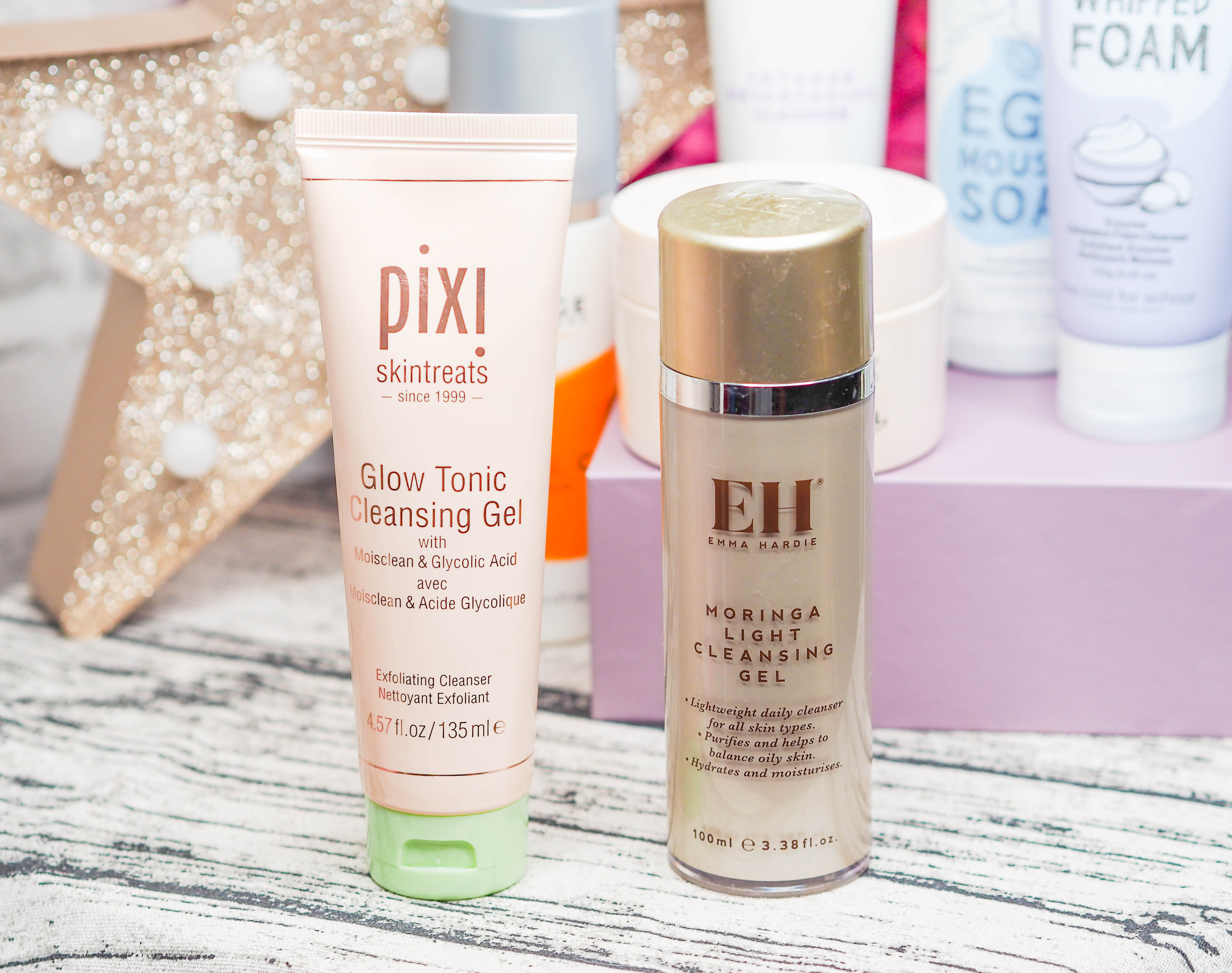 Pixi Glow Cleanser and Emma Hardie Light