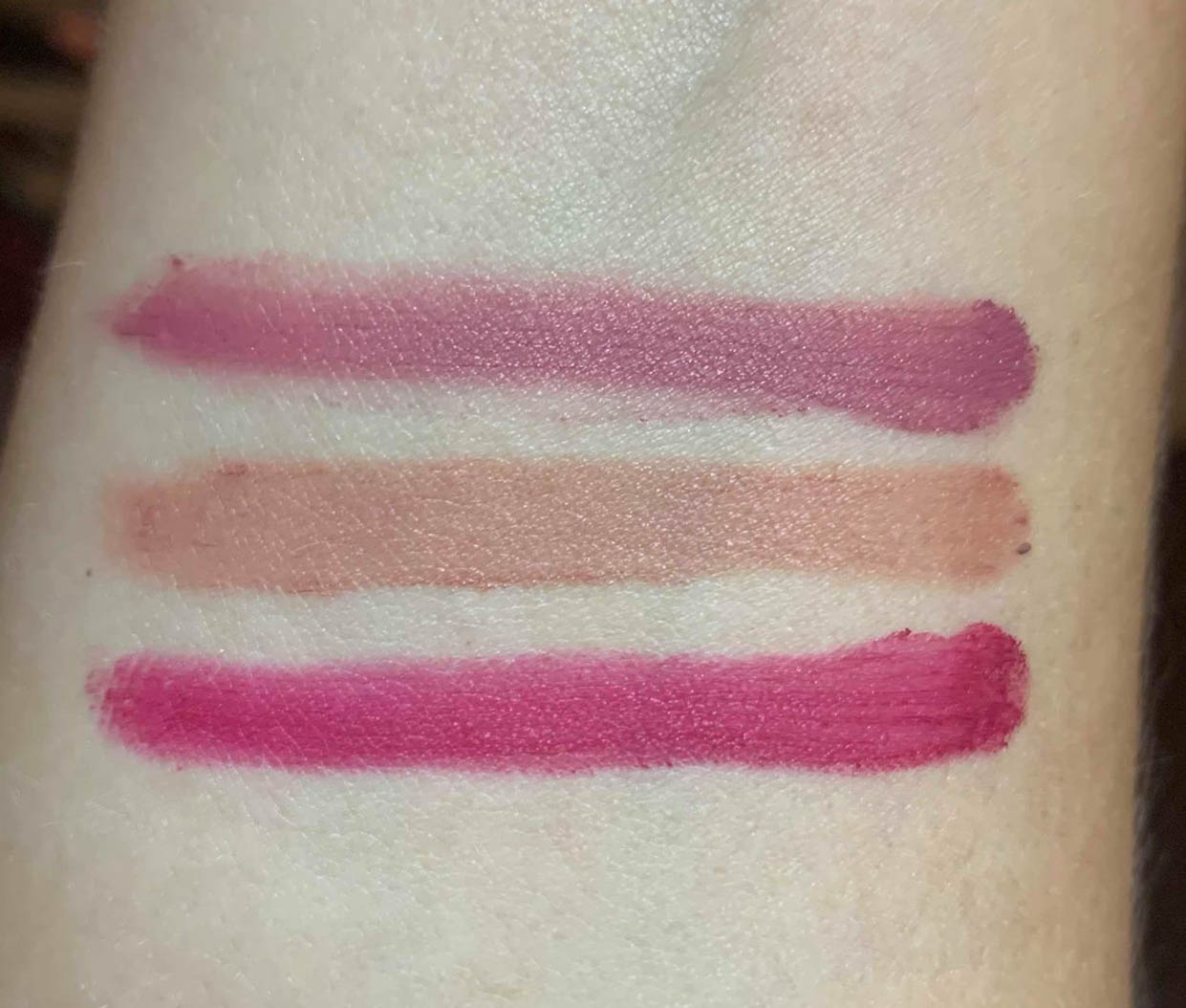 Avon Mark Epic Lip Powders Swatches
