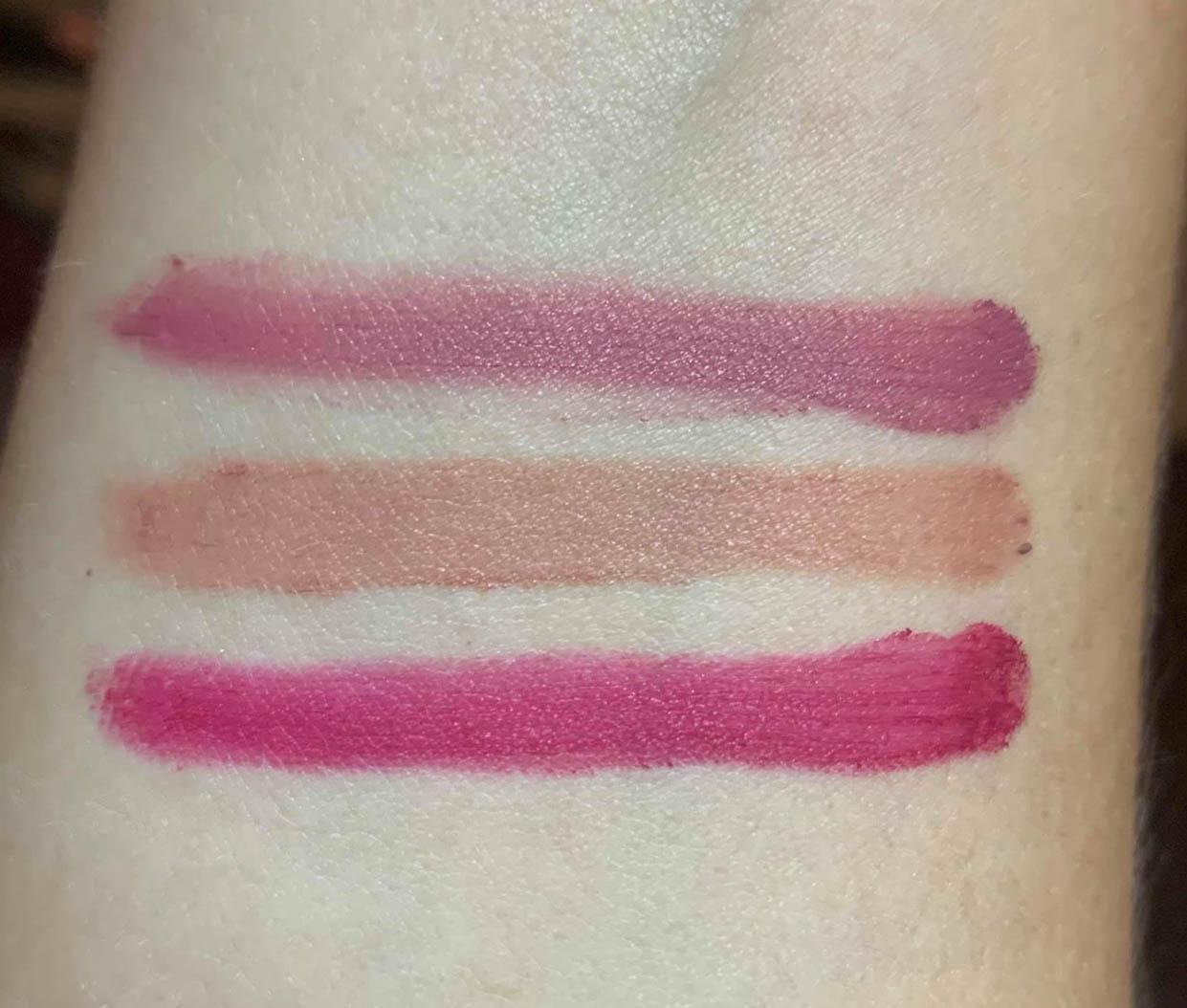 Avon Mark Epic Lip Powders Swatches