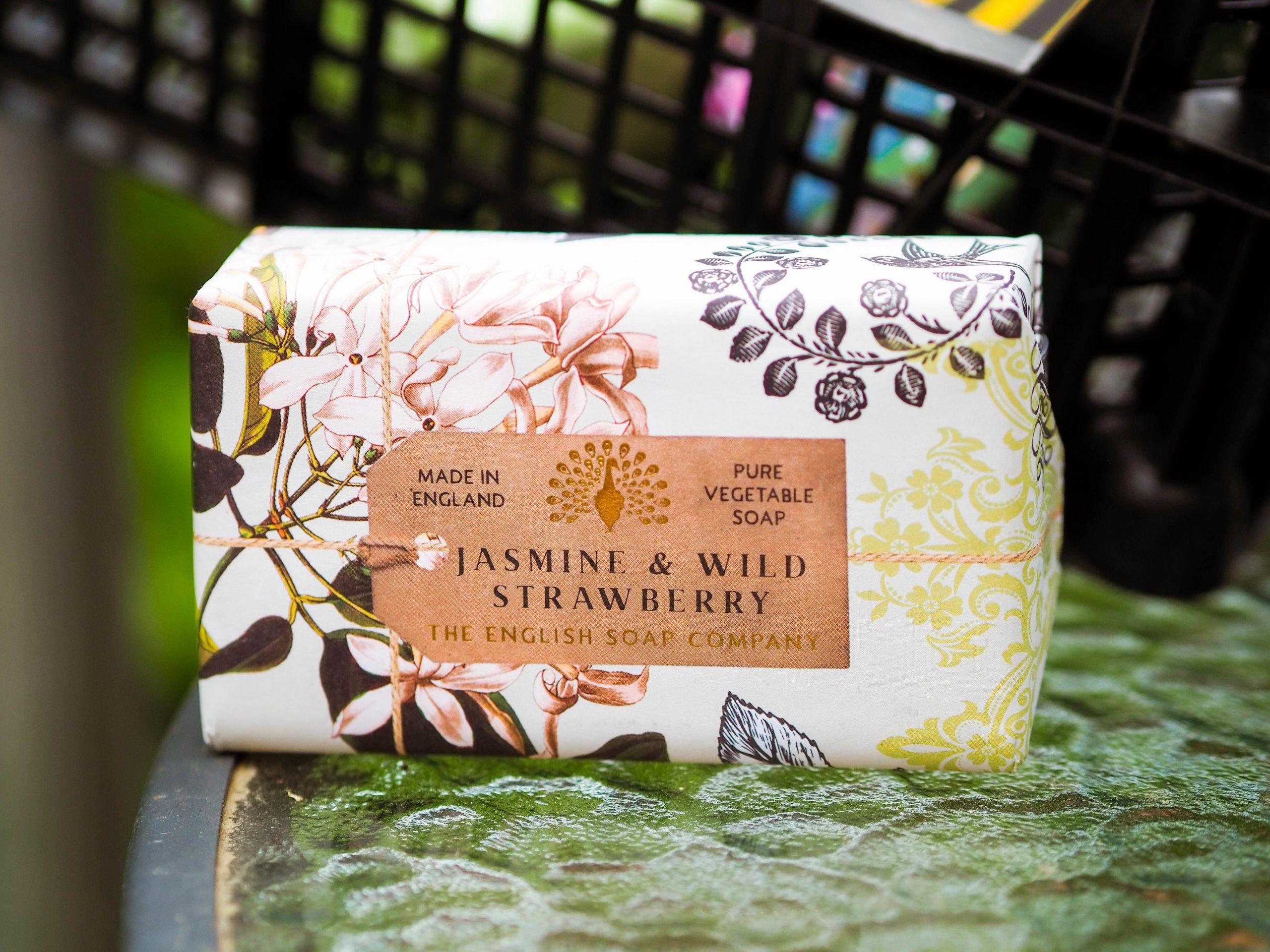 English Soap Company Jasmine and Wild Strawberry Soap Bar