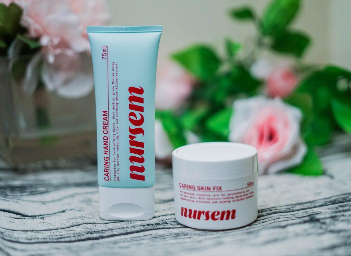 Nursem Caring Hand Cream and Caring Skin Fix