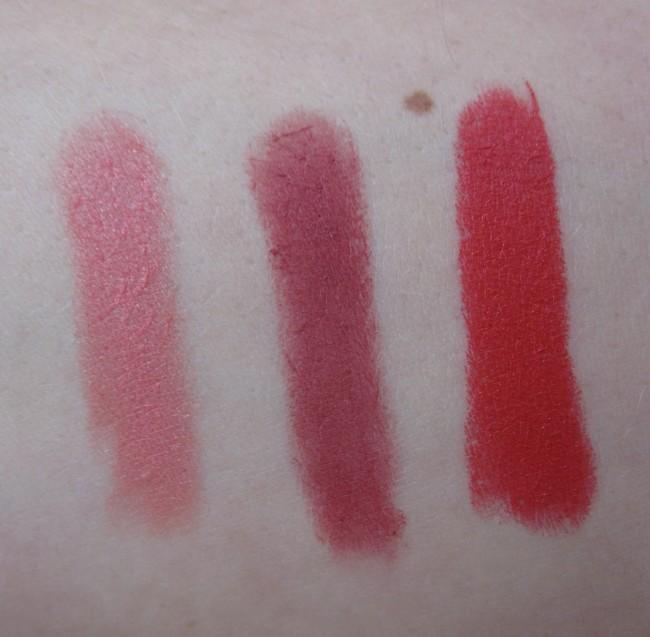 Kiko Long Lasting Lipsticks Swatches