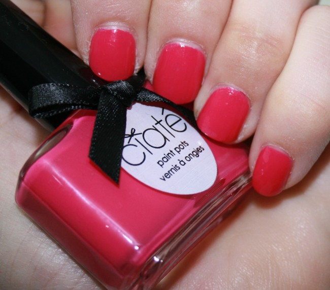 Ciate Raspberry Collins swatch
