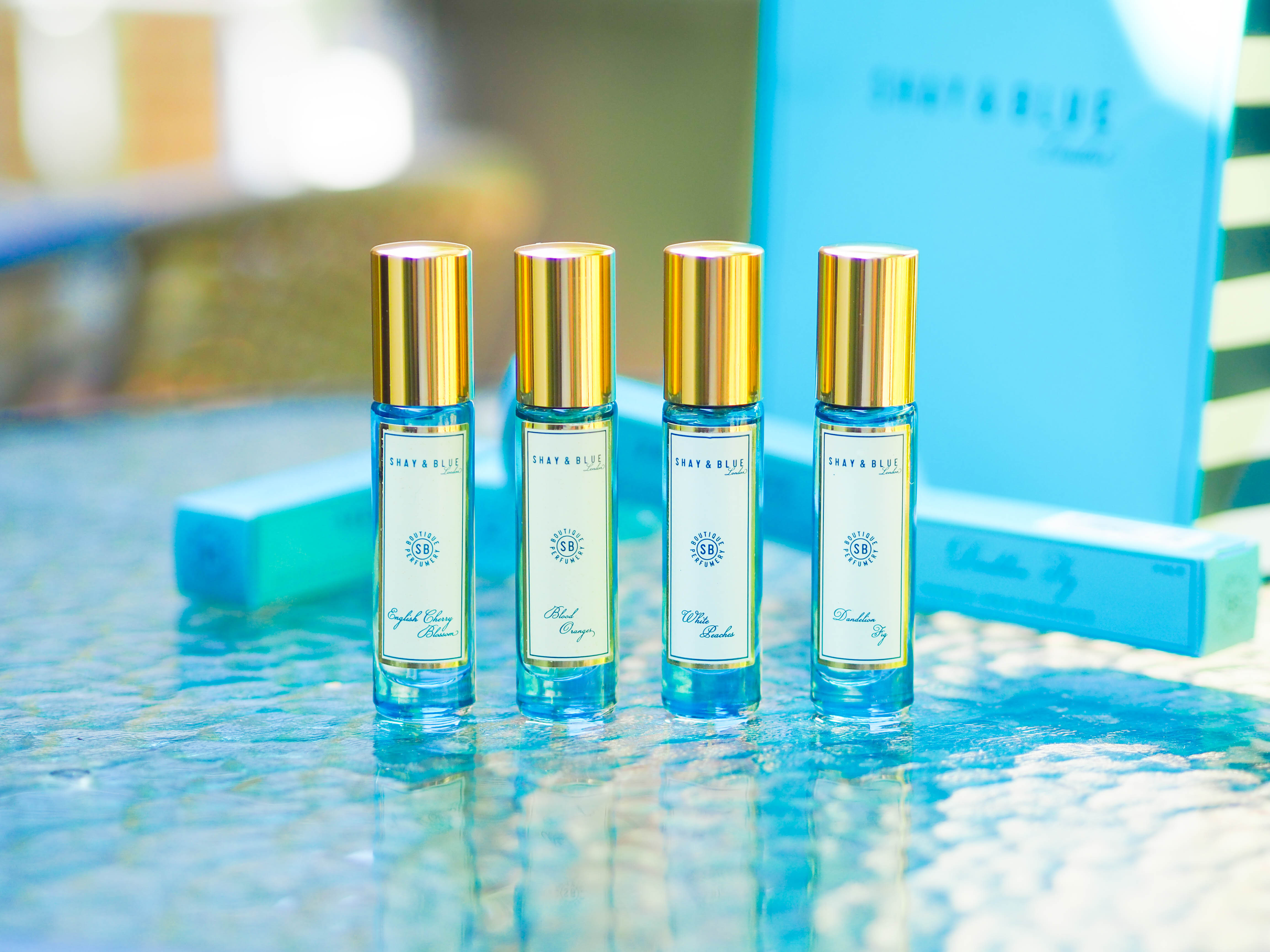 QVC UK TSV Shay & Blue 4 Piece Portable Fragrance Collections