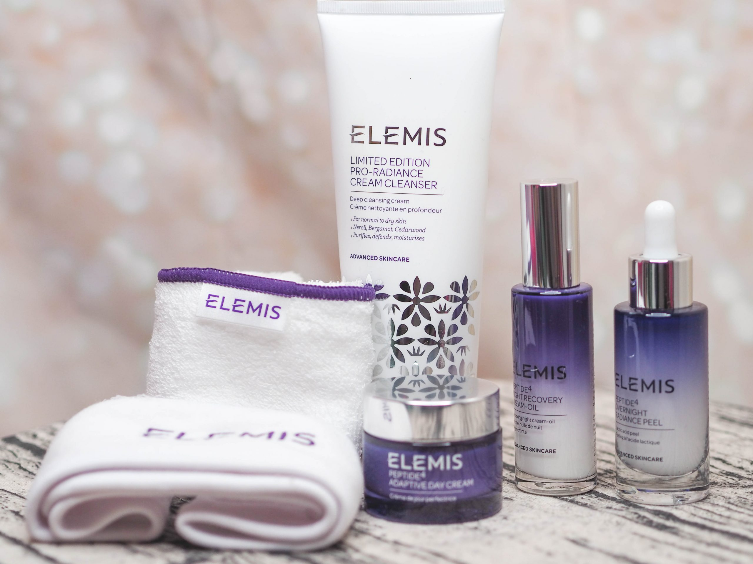 QVC UK TSV Elemis Peptide4 Radiant Glow Day to Night Collection