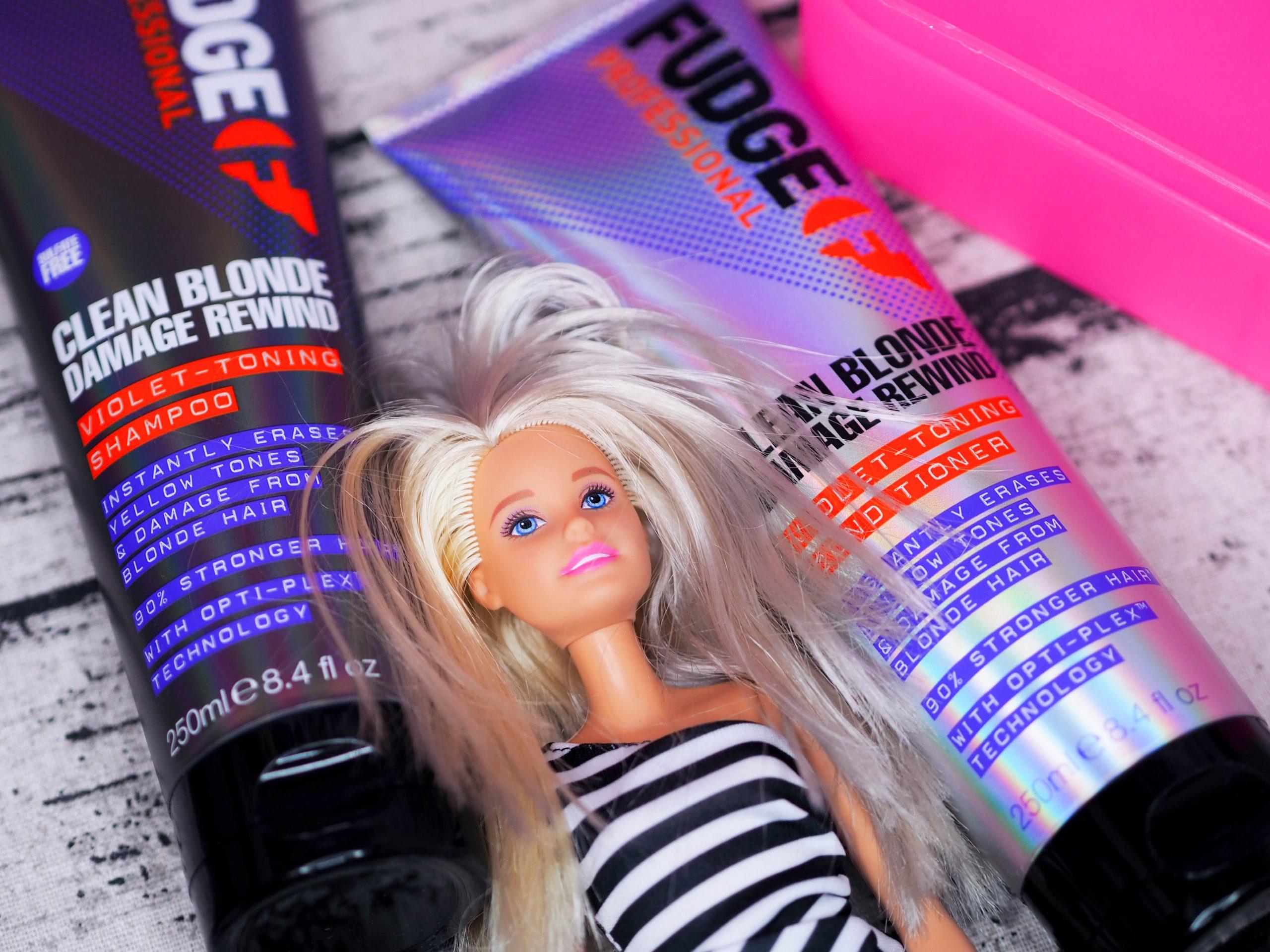 Fudge Clean Blonde Damage Rewind Violet Toning Shampoo and Conditioner