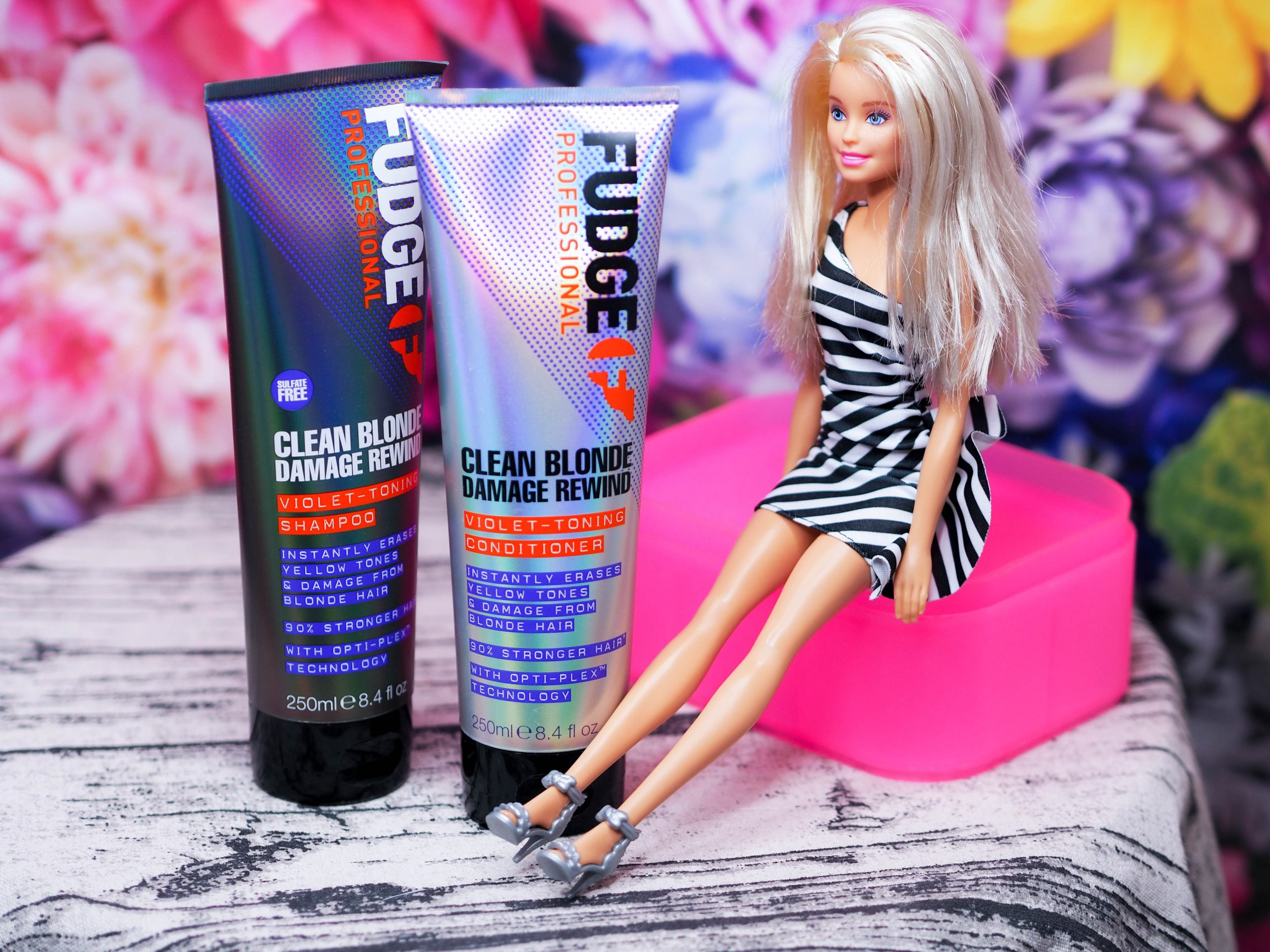 Fudge Clean Blonde Damage Rewind Violet Toning Shampoo and Conditioner